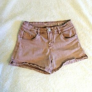 Cotton On Dusty Pink Mid Rise Stretch Shorts
